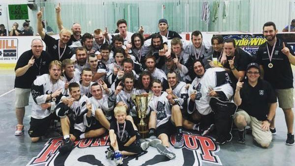 Orangeville Northmen 2016 Founders' Cup Champions Junior B box lacrosse
