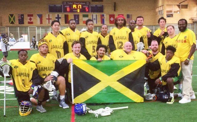 Team Jamaica at the Lacrosse All Stars North American Invitational