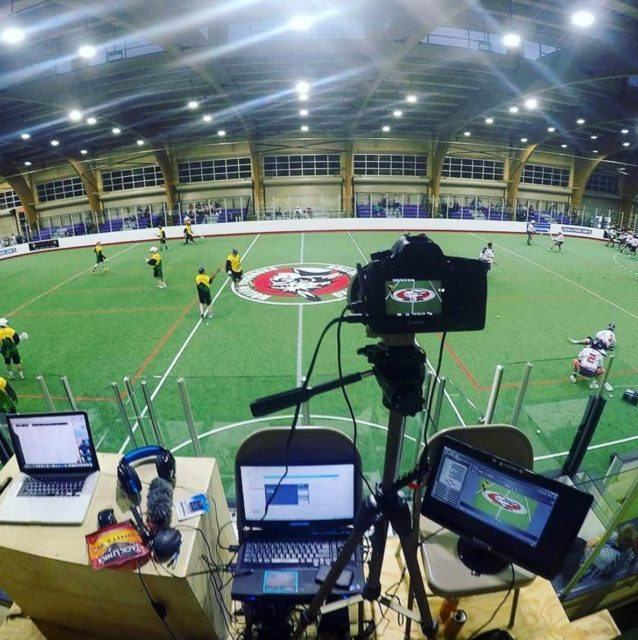 Recording booth at the Team Jamaica at the Lacrosse All Stars North American Invitational