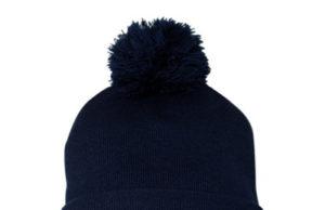 LaxAllStars pom pom knit beanie - Navy
