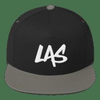 LAS-LaxAllStars-Snapback-Hat_arrow-side-logo-f_mockup_Front_Black-Grey
