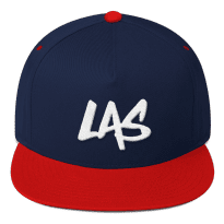 LAS-LaxAllStars-Snapback-Hat_arrow-side-logo-f_mockup_Front_Navy-Red