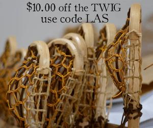 10 dollars off Wood Lacrosse Sticks
