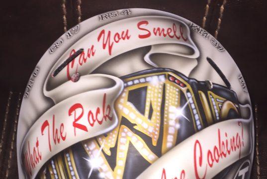 Nick Rose's new rock goalie helmetq