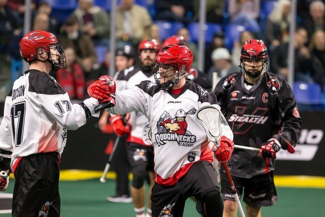 Calgary Roughnecks Vancouver Stealth 2017 NLL Photo: Garrett James