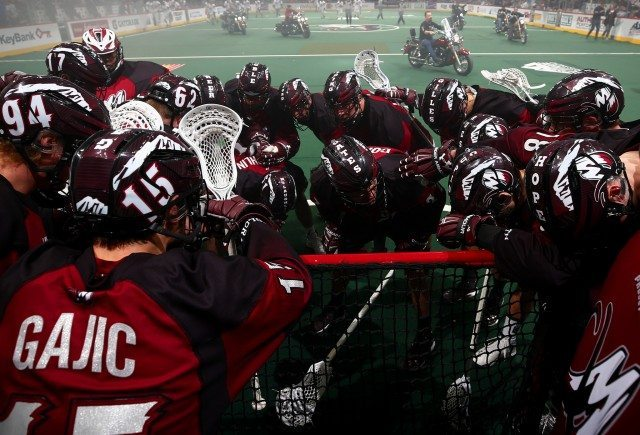 Colorado Mammoth New England Black Wolves 2017 NLL Photo: Jack Dempsey