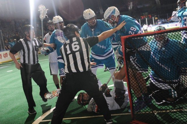 Rochester Knighthawks New England Black Wolves NLL 2017 photo Micheline V