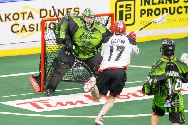 Calgary Roughnecks at Saskatchewan Rush NLL Media Poll 2017 Photo: Josh Schaefer