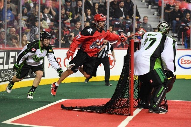Calgary Roughnecks NLL 2017 Saskatchewan Rush media poll Photo: Candace Ward / Calgary Roughnecks