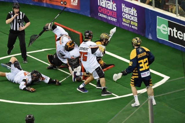 Georgia Swarm vs New England Black Wolves 2017 NLL Media Poll Photo: Paul Sasso / Georgia Swarm