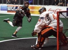 Buffalo Bandits at New England Black Wolves NLL 2017 Photo: Ryan Conwell