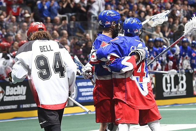 Toronto Rock Calgary Roughnecks NLL Media Poll 2017 Photo: Graig Abel