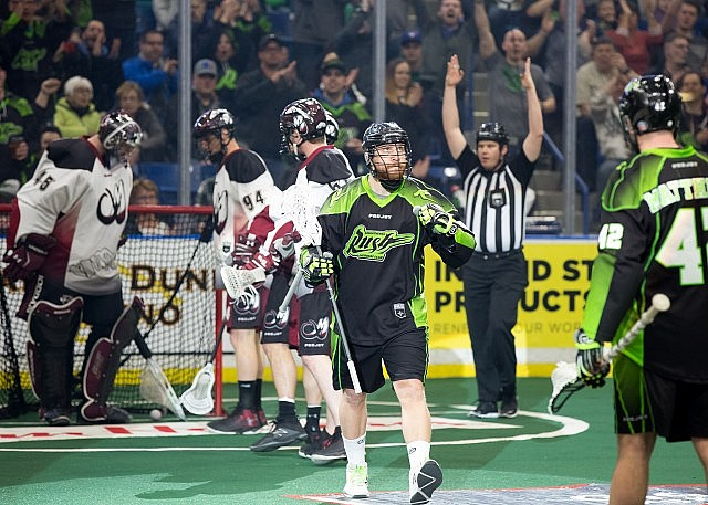 Saskatchewan Rush Colorado Mammoth NLL Media Poll 2017 Photo: Graig Abel