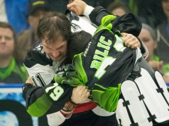 NLL Media Poll 2017 Calgary Roughnecks Saskatchewan Rush Photo: Josh Schaefer
