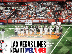 IN YOUR FACE LAXCAST LAX VEGAS LINES WEEK FIVE NCAA D1 LACROSSE LINES