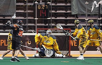 New England Black Wolves vs Georgia Swarm NLL 2017 Photo Jeff Melnik