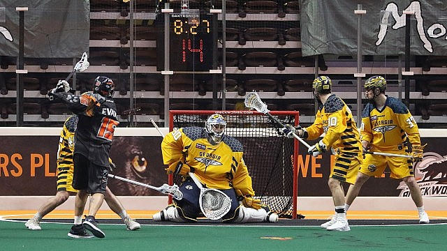 New England Black Wolves vs Georgia Swarm NLL 2017 Photo Jeff Melnik