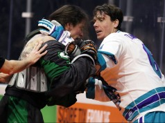 New England Black Wolves vs Rochester Knighthawks NLL 2017 Photo Jeff Melnik LaxAllStars.com