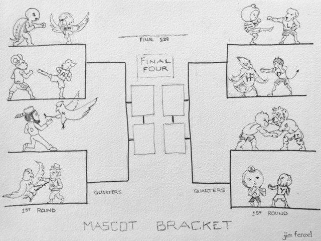 2017 Mascot Bracket Jim Fenzel