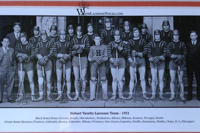 1931 hobart lacrosse team The Neville Family Wooden Stick Revival