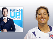 Julie Foudy Suiting Up with Paul Rabil