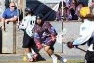 LC Blue Goose Ucommon FIt Lasersharks LASNAI 2017 LaxAllStars North American Invitational box lacrosse Onondaga Nation photo: Jeff Melnik