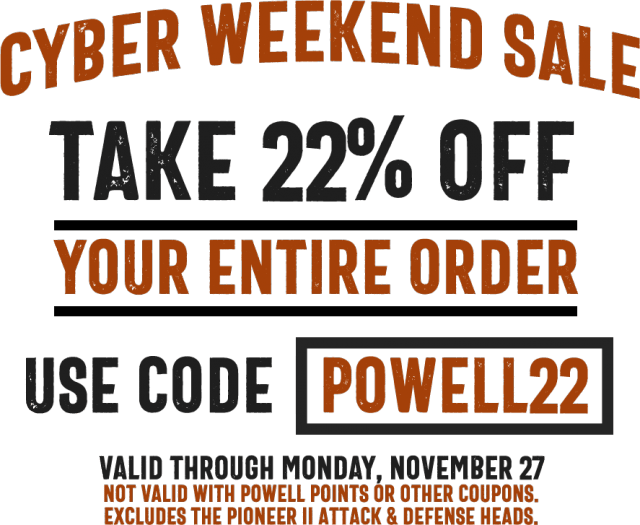 Cyber Monday powell lacrosse