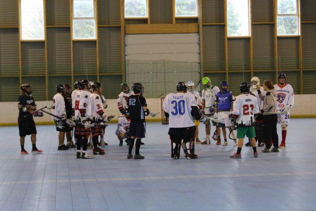 Bratislava Bats box lacrosse clinic Brian Witmer Slovakian