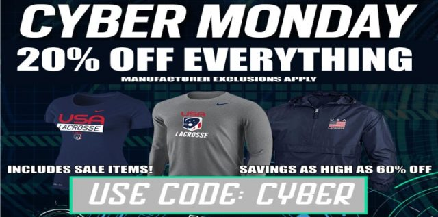 cyber monday lacrosse unlimited