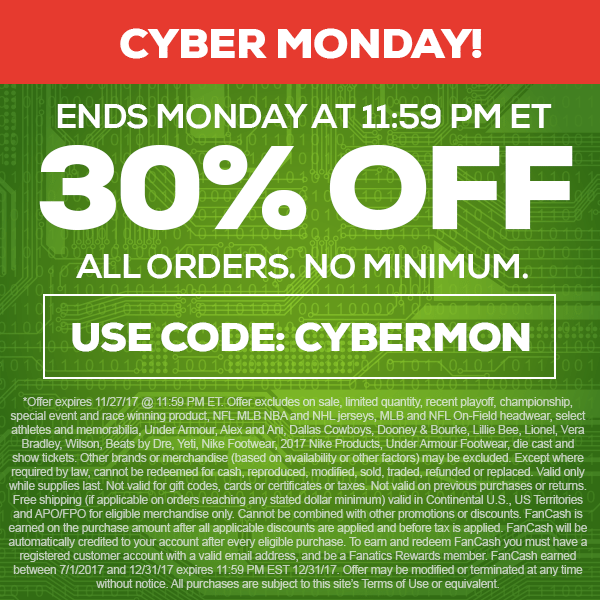 fanatics cyber monday