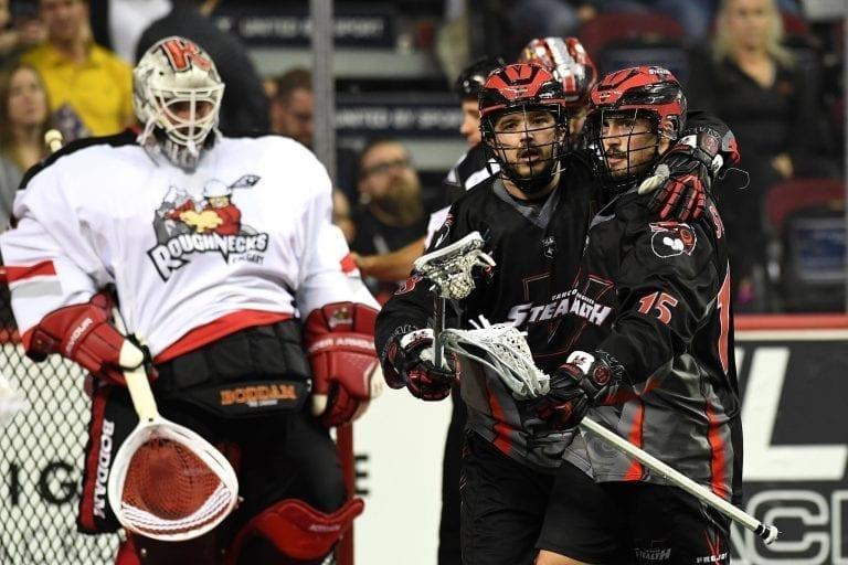 Logan Schuss Vancouver Stealth Calgary Roughnecks NLL 2018