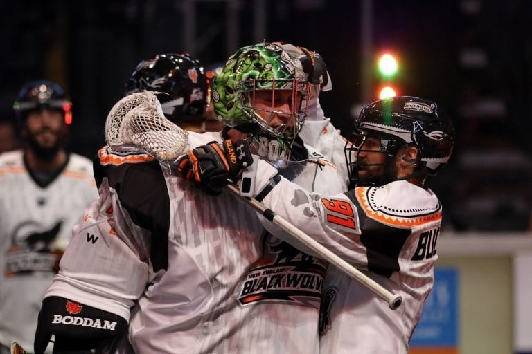 New England Black Wolves NEBW vs GA Swarm Photo Jeff Melnik NLL 2018 week 4