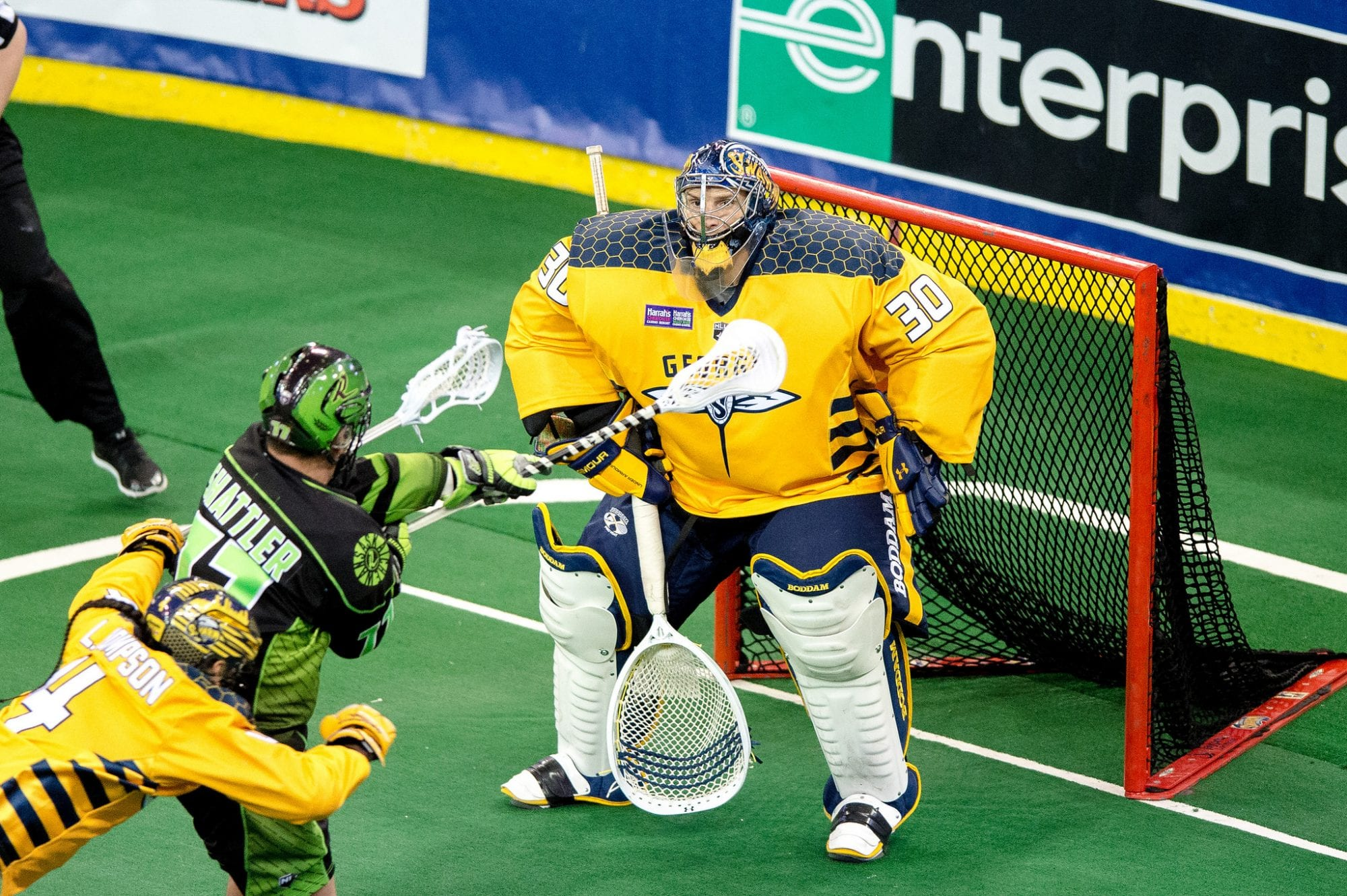 Mike Poulin Georgia Swarm Saskatchewan Rush NLL 2018