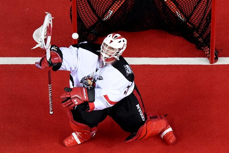 Christian Del Bianco Calgary Roughnecks. Photo: Candice Ward.