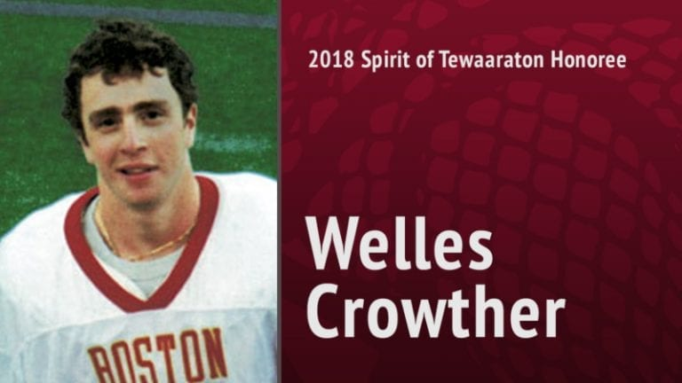 2018 spirit of tewaaraton - Welles Crowther