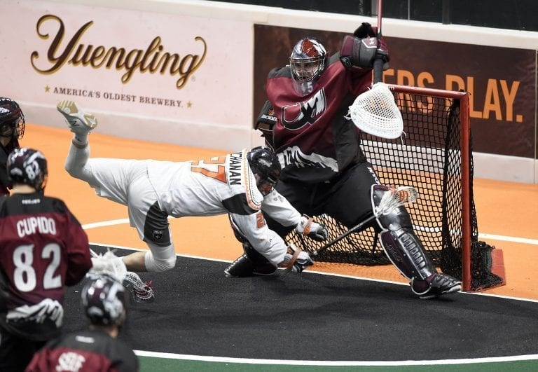 Dillon Ward Colorado Mammoth New England Black Wolves NLL 2018