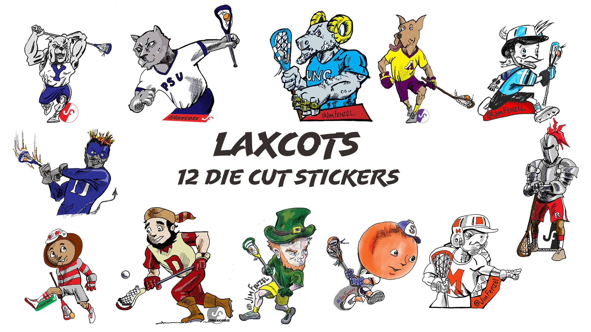 jim fenzel lacrosse cartoon laxcots