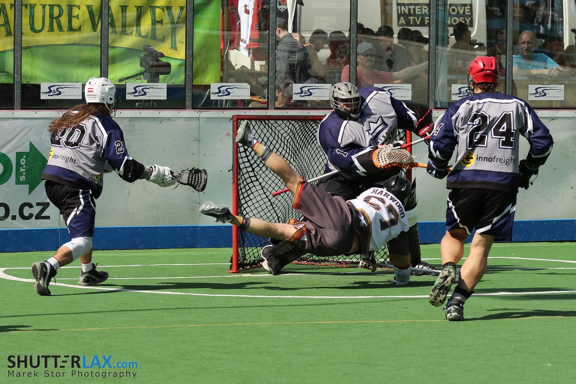 Patrick Falb Vienna Monarchs Austria Lacrosse goalie photo: Marek Stor Shutterlax.com