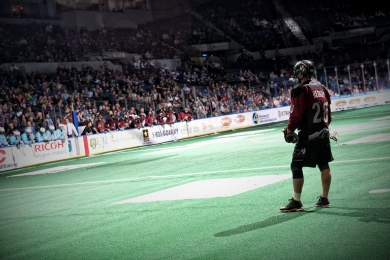 Photo By: Micheline V/ Rochester Knighthawks NLL Stpehen Keogh COlorado Mammoth 2018 Random Thoughts East