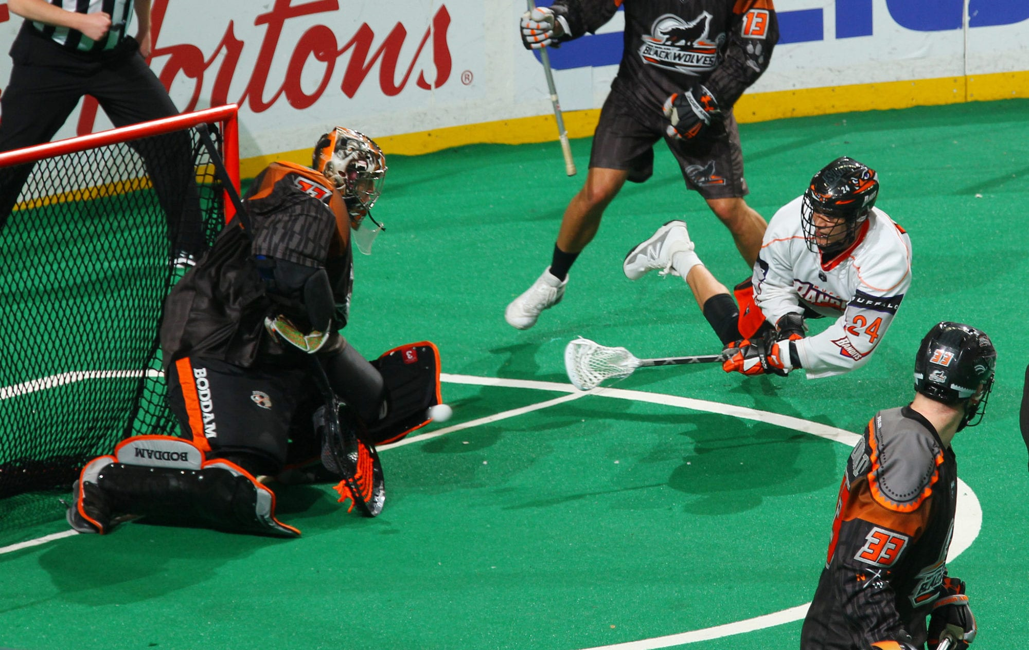 Random Thoughts: Offensive Issues, East Tiebreakers, No Canada Buffalo Bandits vs New England Black Wolves. KeyBank Center, Buffalo, NY. March 31, 2018. Photo by Bill Wippert