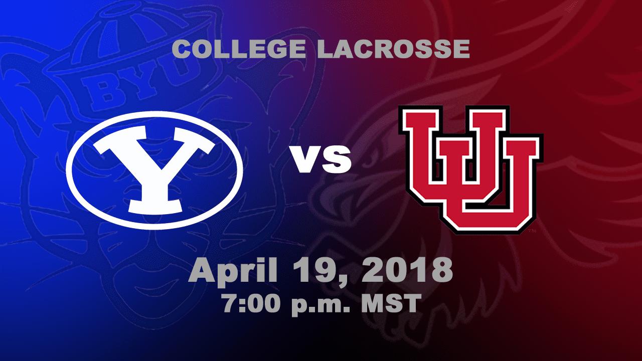 No. 2 Utah Utes vs. No. 5 BYU Cougars | MCLA DI College Lacrosse