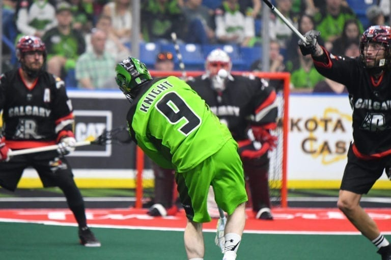 Saskatchewan Rush Calgary Roughnecks NLL Playoffs 2018 Curtis Knight