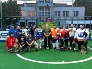 Marty O'Neil MaxLax lacrosse 2018 Ales Hrebesky Memorial box lacrosse goalie