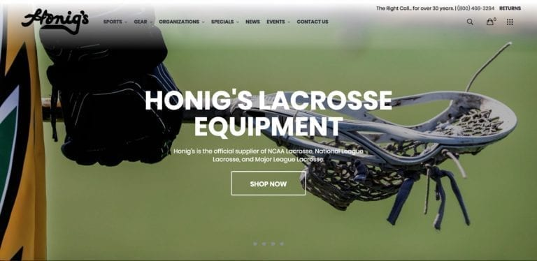 Honig's - official outfitter of federation of international lacrosse