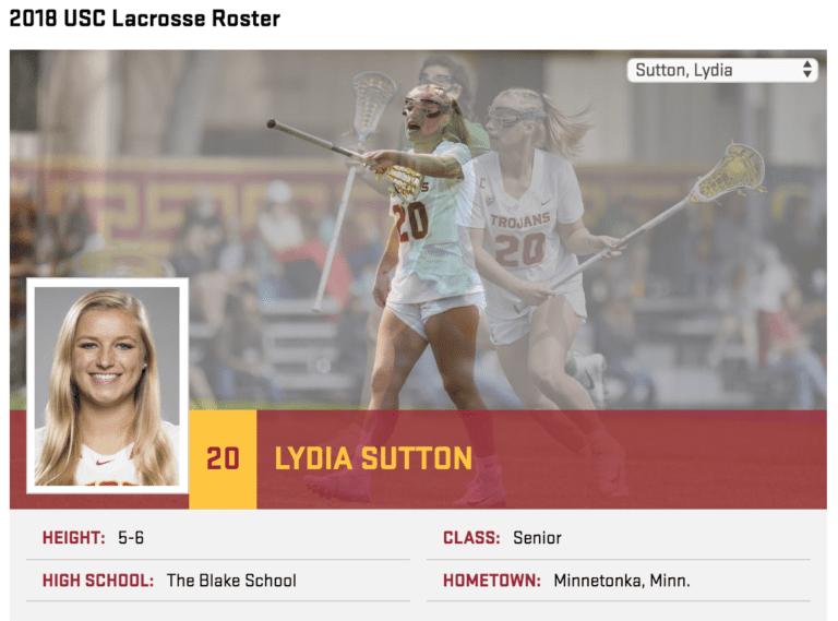 lydia sutton - USC defense