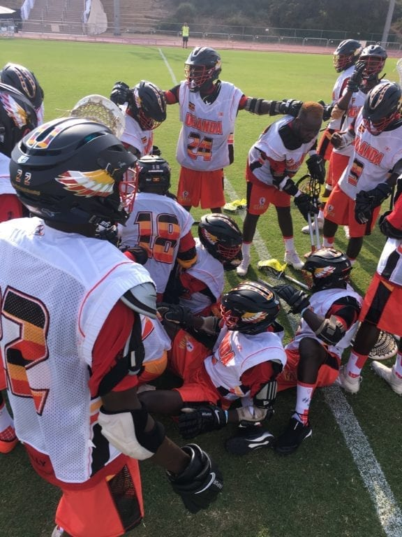 Team Uganda Celebratory Dog Pile 2018 FIL World Lacrosse Championships world games