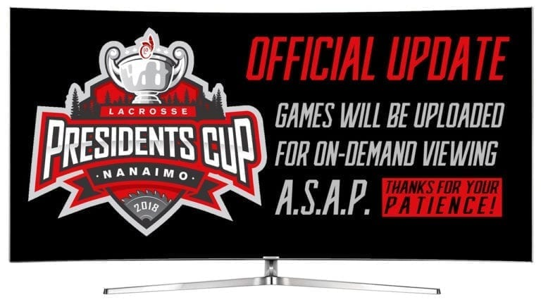 President's Cup Broadcast Update