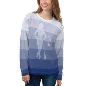 shopping saturday fade sweatshirt women