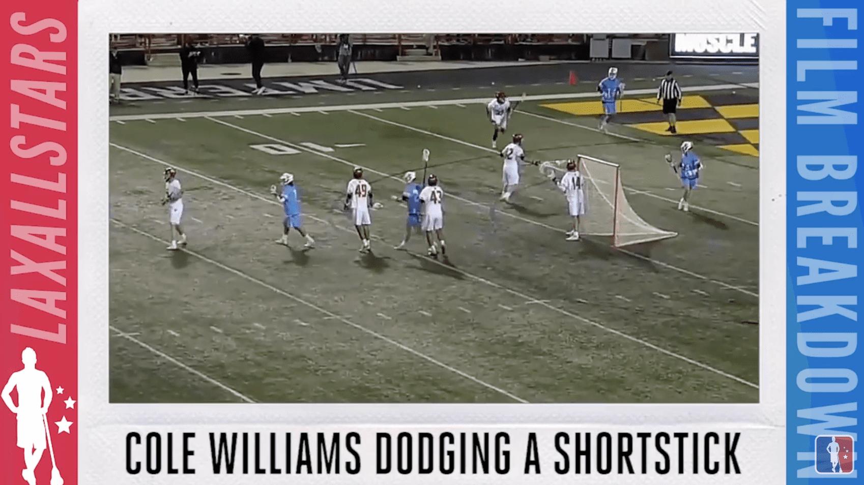 cole williams johns hopkins dodging a short stick