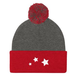 Starburst Pom Pom Knit Beanies